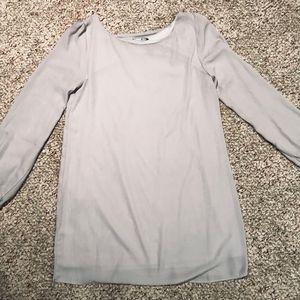 "Lulu's ""Status Update Light Grey Shift Dress"""